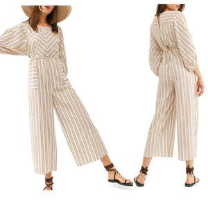 Free People Kenny Striped One-Piece in ivory combo